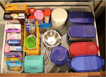 Küchen-Schublade NACH dem Ausmisten