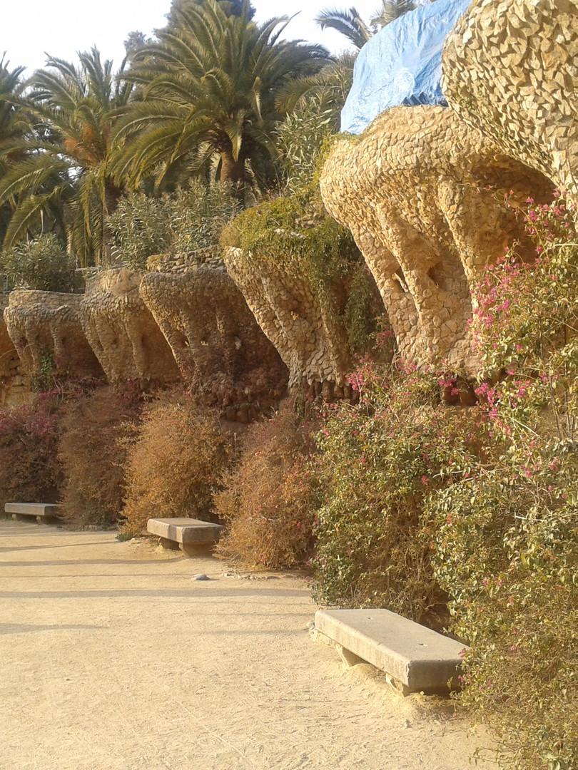 Gaudi Gardens, Barcelona, Spain