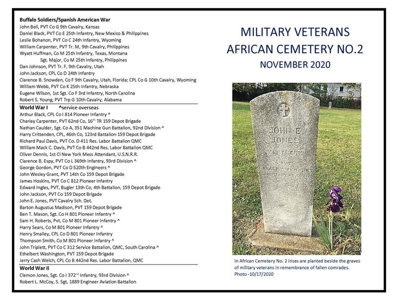November 8 Military Veterans Civil War to WWII