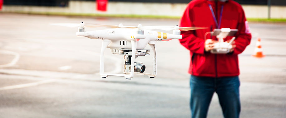 Licensed drone pilot flying Phantom 4 drone in Portland, Oregon.