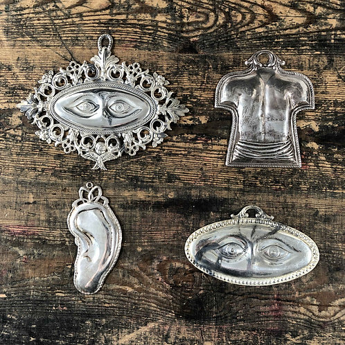 Antique silver Italian Ex voto.