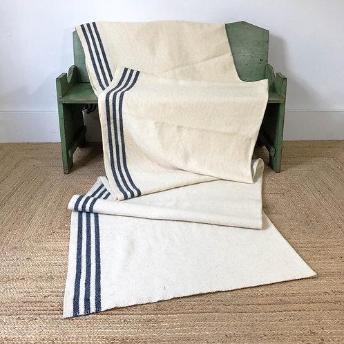 Antique Scottish Crofters Narrow Loom Blanket