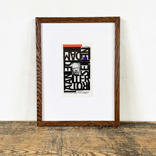 "' Letter Collage I"" Siep Van den Berg (1913-1988) Dated and Signed 1984"