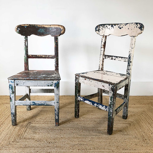 A Pair of Irish Carpenters Chairs  C1850