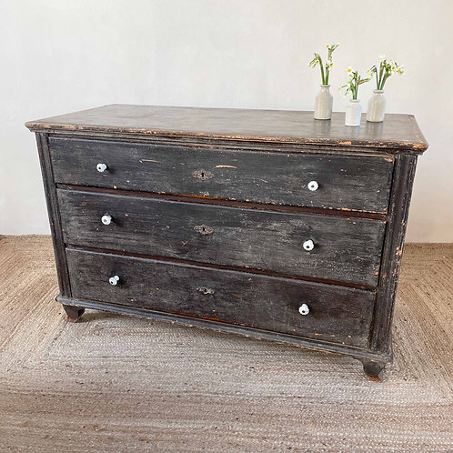 Large Antique Pine Chest of Drawers Central European C1880
