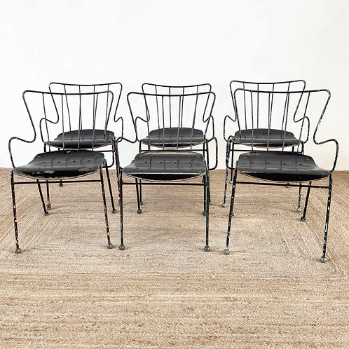 Set of 6 Ernest Race Antelope Chairs England C1960-80.