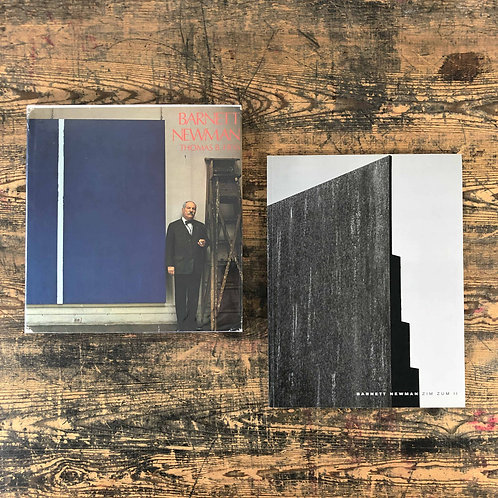 A pair of Collectible volumes on Barnett Newman 1972 and 1992