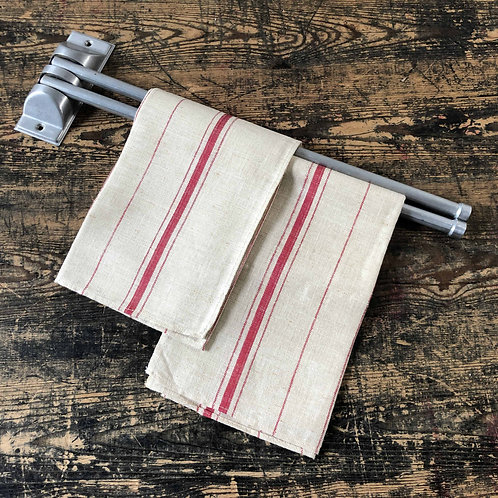 Vintage French Aluminium Double Armed Towel Holder C1950
