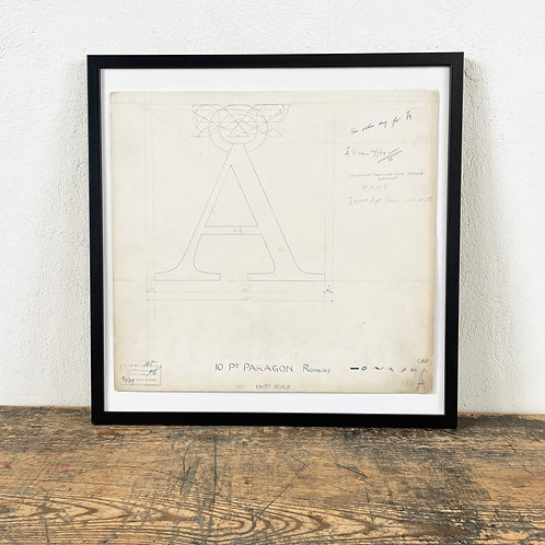 Original Master Drawings of Letters A to F