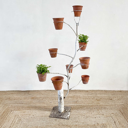 Painted Iron 9 Armed Plant Stand Russia C1930