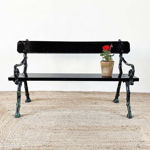 Antique Naturalistic Cast Iron Garden Bench C1890