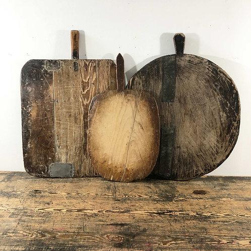 Antique Primitive Wooden Dough Boards C1880-1910