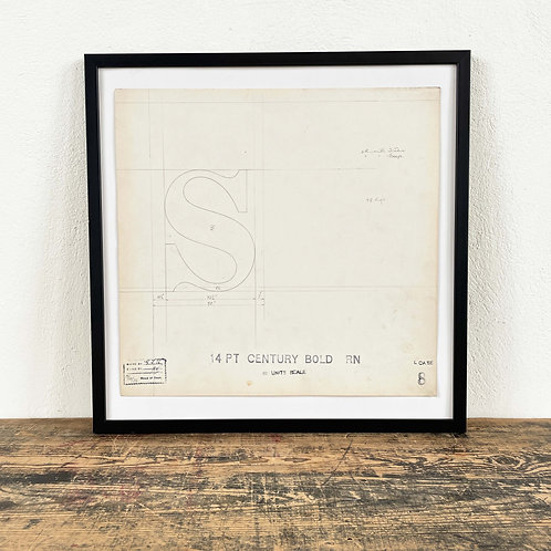 Original Master Drawings of LettersS to X