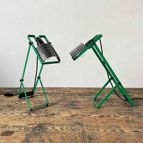 A Pair of Vintage Sintesi Table Lamps by Ernesto Gismondi