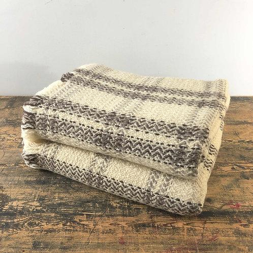 Vintage Wool Handwoven Blanket South Eastern Europe C1970