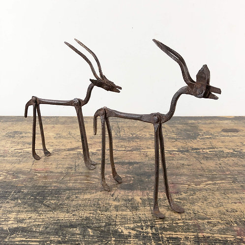 Primitive Iron Sculpture of an Antelope of Dogon Ethnicity 20th Century