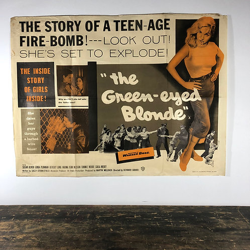 1957 movie poster for Green eyed blonde