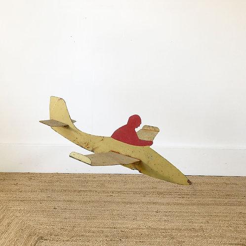Vintage Sheet Metal Airplane and Pilot C1930