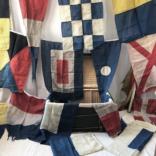 Full Set of Vintage Maritime Signalling Flags