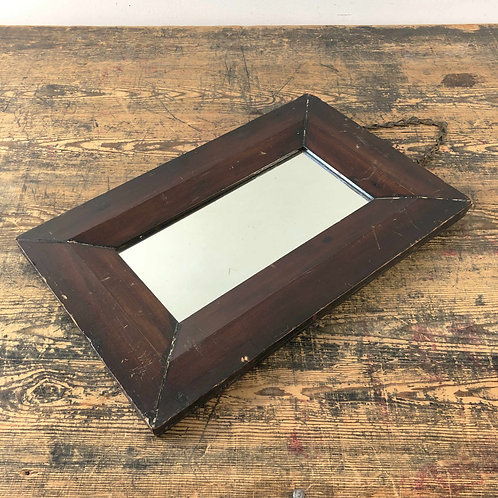 Antique Wooden Framed Mirror  England  Early 20th Century