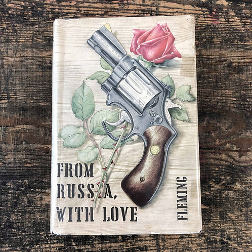 From Russia With Love 1957 1st print in bright unfaded wrapper price clipped.