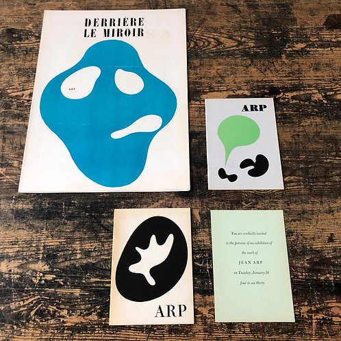 A collection of 3 Original Jean Arp publications C1950