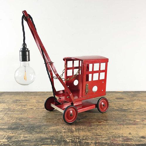 Vintage Metal Toy Crane Light  England C1960