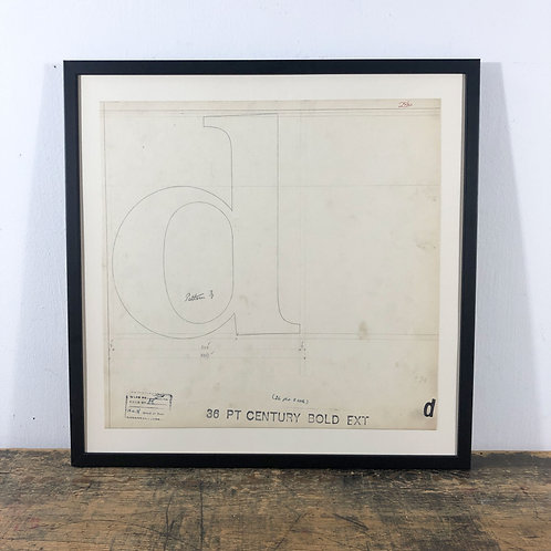 Original Master Drawings of Letters D, F England 1908-1942