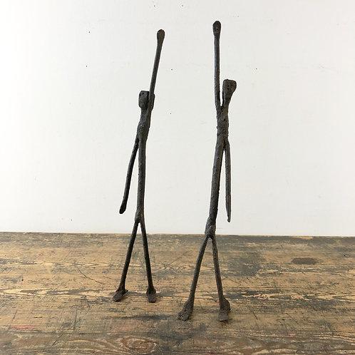 Primitive Iron Sculpture of a Figure Dogon Ethnicity
