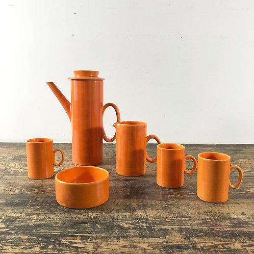 Vintage Studio Pottery Coffee Set C1960