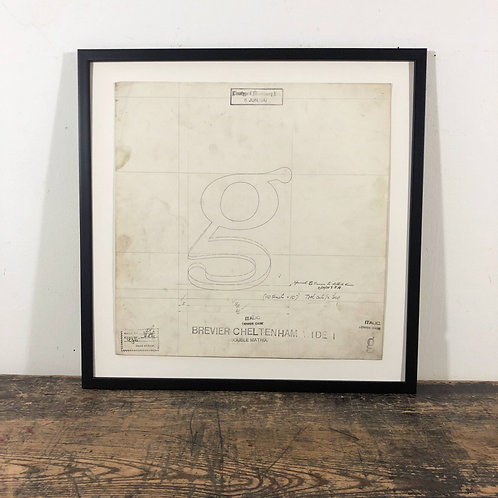 Original Master Drawings of Letters G to L