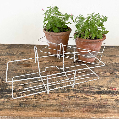 White Painted Metal Balcony Planter France C1950-60