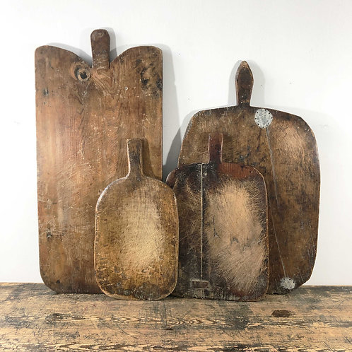 Antique Primitive Wooden Dough Boards C1880-1910