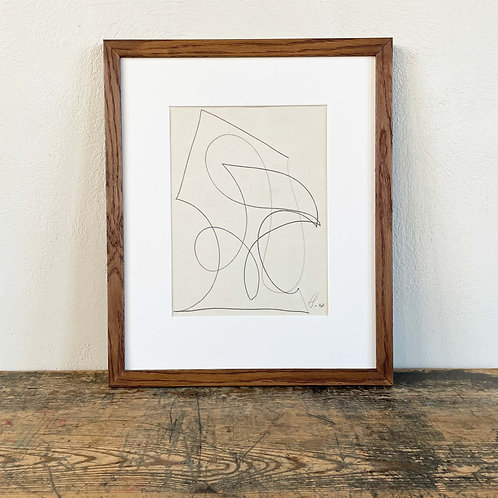 Composition in Pencil by Victor Servranckx (1897 – 1965) Signed and Dated 1947
