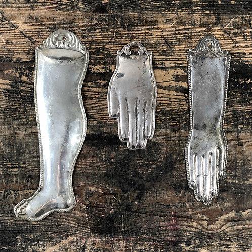 Antique silver Italian Ex voto.