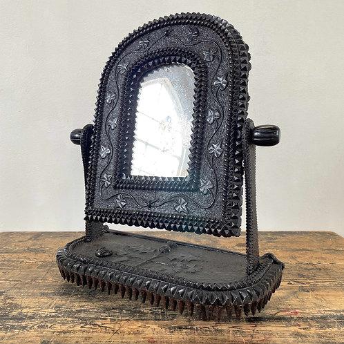 Antique Tramp Art Mirror America 19th C