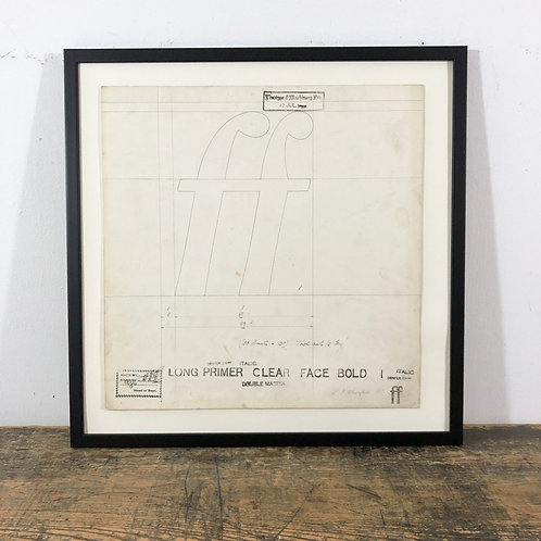 Original Master Drawings of double and triple Letters