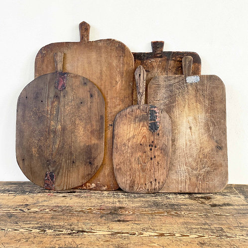 Antique Primitive Wooden Dough Board 19th Century