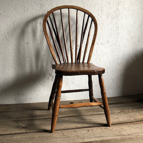 Early 19th century West Country ash and elm chair