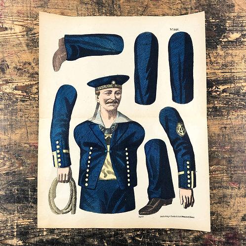 1890's Seven-part Wissembourg sailors jumping jack