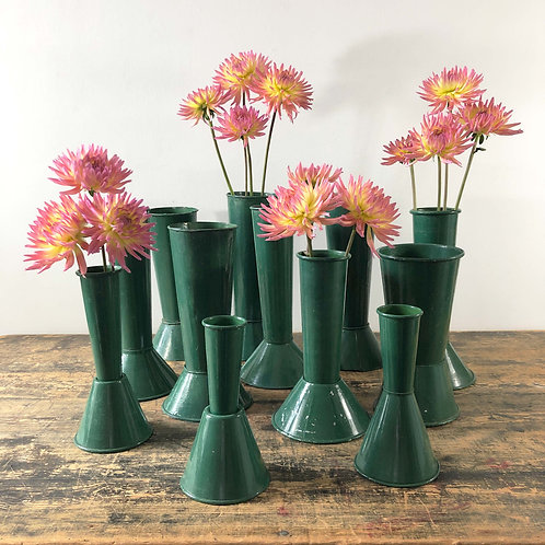 A Collection of Floral Tole Horticultural Show Display Vases - from £75 - £395