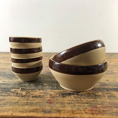 Vintage French stoneware bowl sets