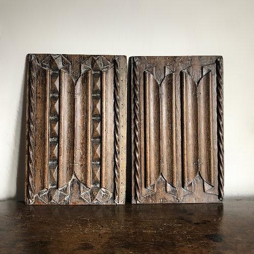 18th Century linenfold panels