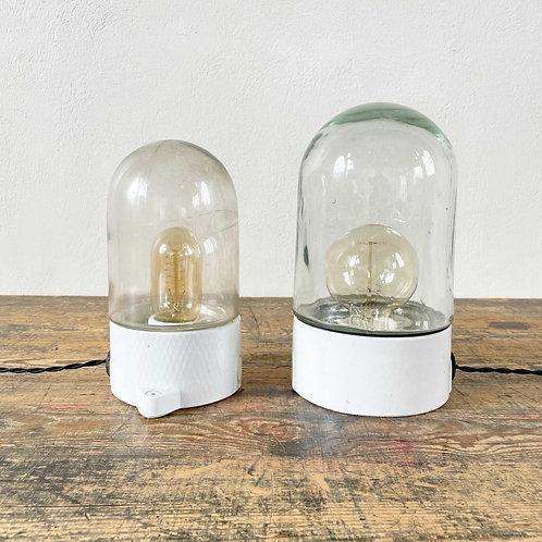 Vintage Upright Ceramic and Glass Lights European. C1950-60