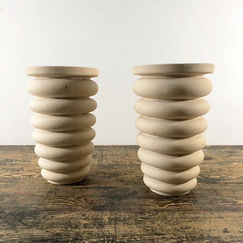 A Pair Of Matching Vintage Stoneware Vases France C1930/40