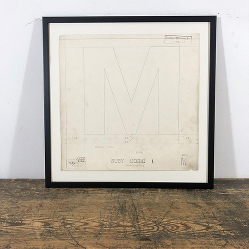 Original Master Drawings of Letters M to R