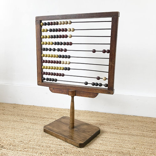 Antique Table Standing Wooden Abacus C1920