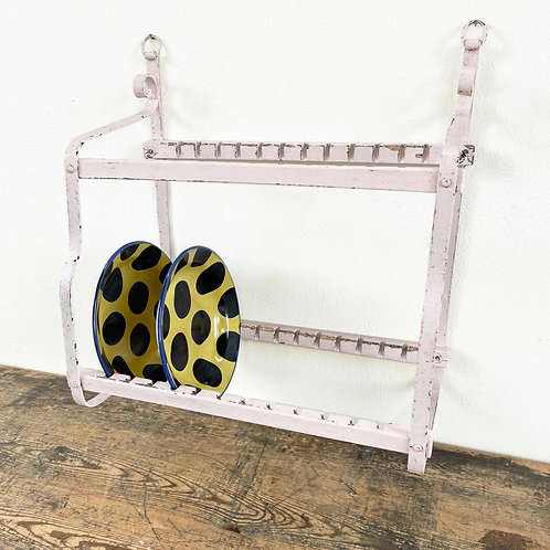 Antique Painted Plate Rack Spain 19th Century