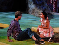 Cameron Watson dorector, Rebecca Mozo, Emily Kunkel, Shakespeare Theatre of New Jersey, Robert Clohessy, outdoor theatre, Shakespeare outdoors