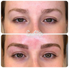 🔪🖤 Before and After #MicroBlading usin